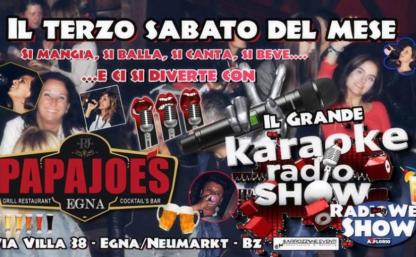 Super Partecipazione al Grande KaraokeRadioShow al Papa Joe'S