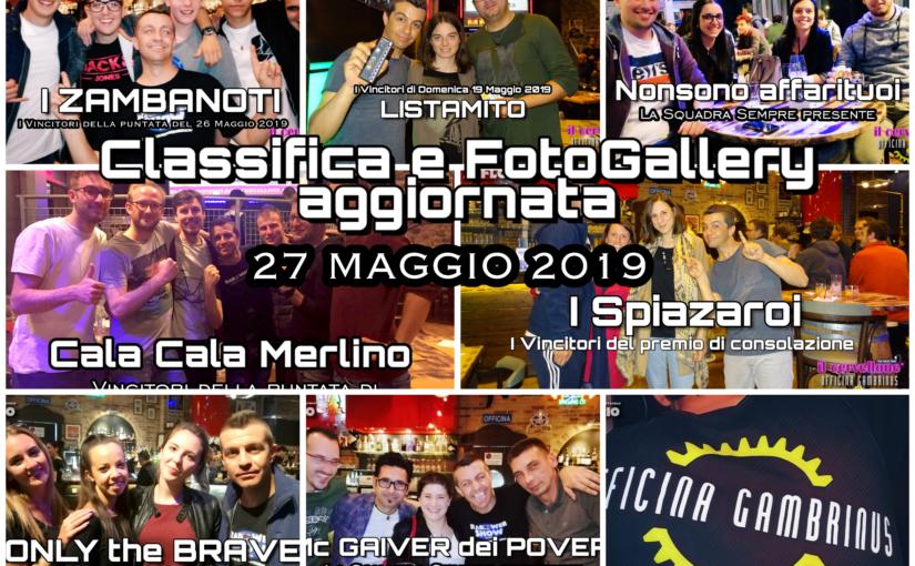 Classifica e FotoGallery aggiornata a Domenica 27 Maggio 2019